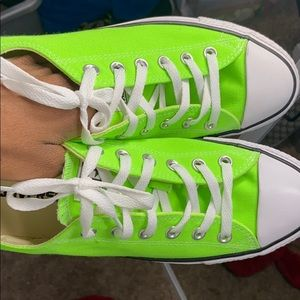 Lime Green Low Top Converse